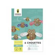 Pirouette cacahouete - Kit Mes Arty Chouettes à colorier