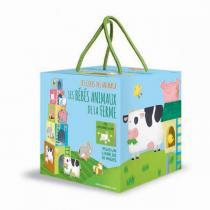 SASSI Junior - Cubes et livre Les bébés animaux de la Ferme - Dès 2 ans