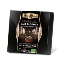 Saveurs & Nature - Coffret bonbons chocolat noir alcools 125g