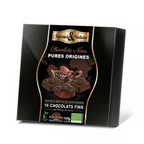 Saveurs & Nature - Coffret bonbons chocolat noir 125g