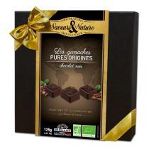 Saveurs & Nature - Coffret chocolats noirs pures origines 125g