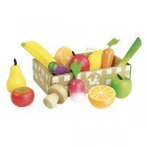 Vilac - Set de fruits et légumes en bois - Dès 3 ans