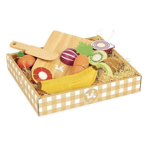 Vilac - Fruits et legumes a decouper en bois - Des 2 ans