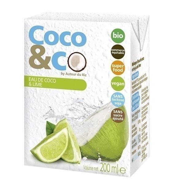 Autour du Riz - Eau de coco et jus de citron - 200 mL