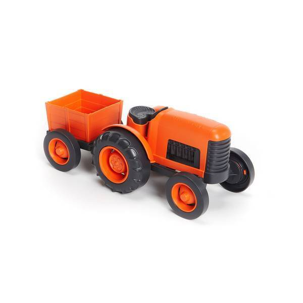 Green Toys - Tracteur Orange - Des 1 an