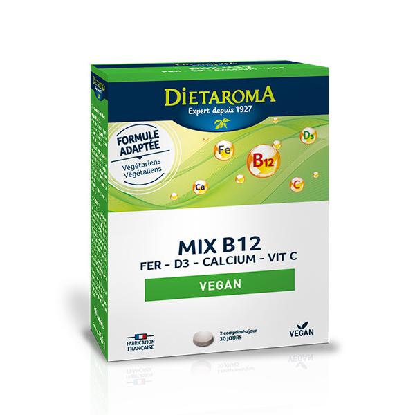 Dietaroma - Mix B12 avec Vitamine D3 x60 comprimés
