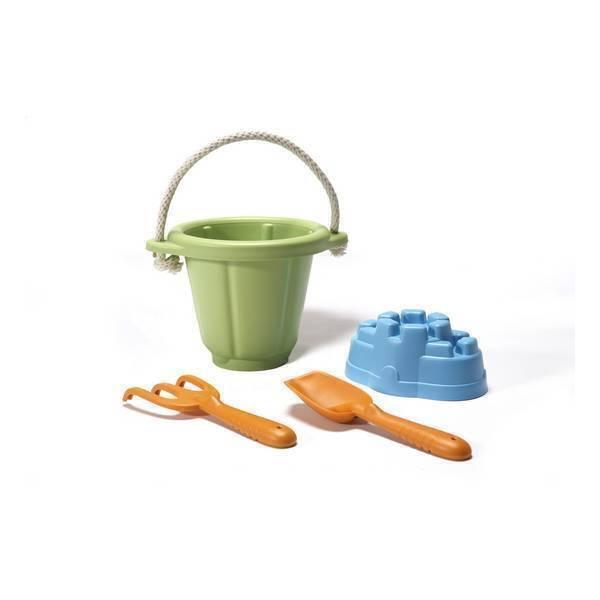 Green Toys - Set jeu de sable vert - Dès 18 mois