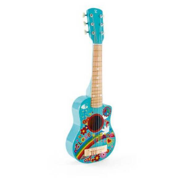 Hape - Mini guitare Flower Power - Dès 3 ans
