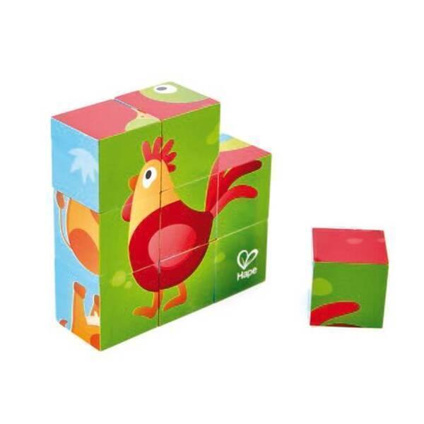 Hape - Puzzle cubes animaux de la ferme - Dès 24 mois
