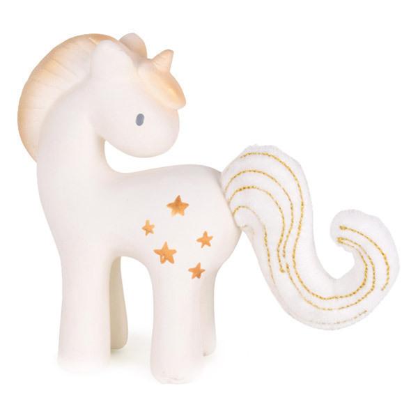 Tikiri - Hochet caoutchouc Licorne étoiles brillantes 16 cm