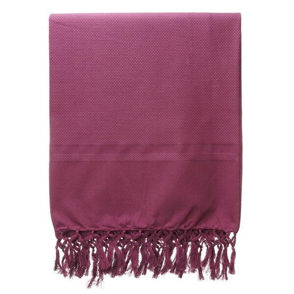 Karawan - Fouta Dhoti en coton bio couleur bergamote 100cm x 50cm