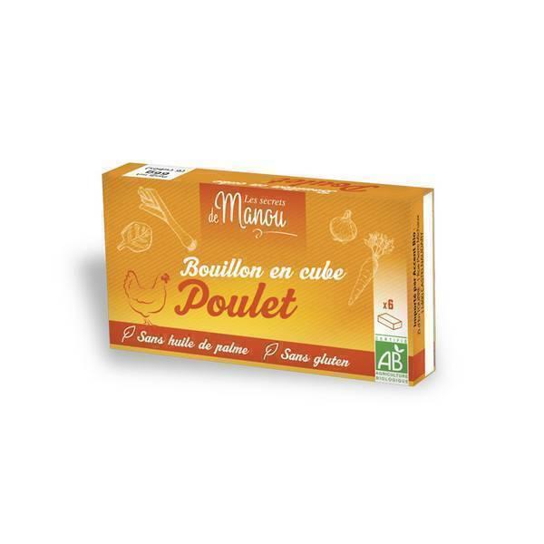 Les Secrets de Manou - Bouillons cubes poulet 6 cubes 66g