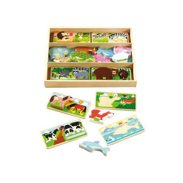 Melissa & Doug - Puzzle planches animalières en bois - Dès 3 ans