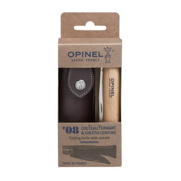 Opinel - Couteau n°08 inox avec étui ceinture