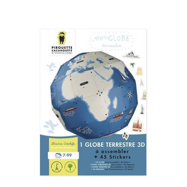 Pirouette cacahouete - Kit Mon globe terrestre à fabriquer