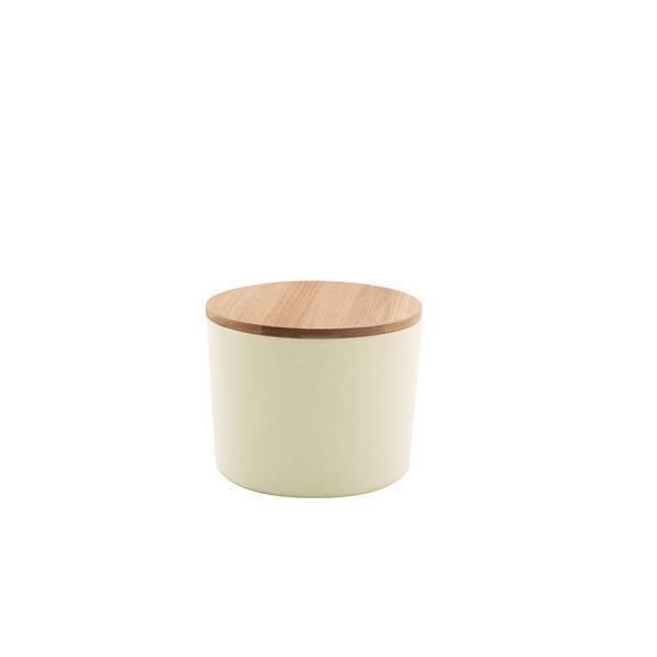 Point Virgule - Boîte fibre de bambou Blanc cassé 9,7cm