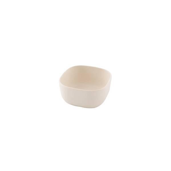 Point Virgule - Petit bol carré fibre de bambou Blanc cassé 9,4cm