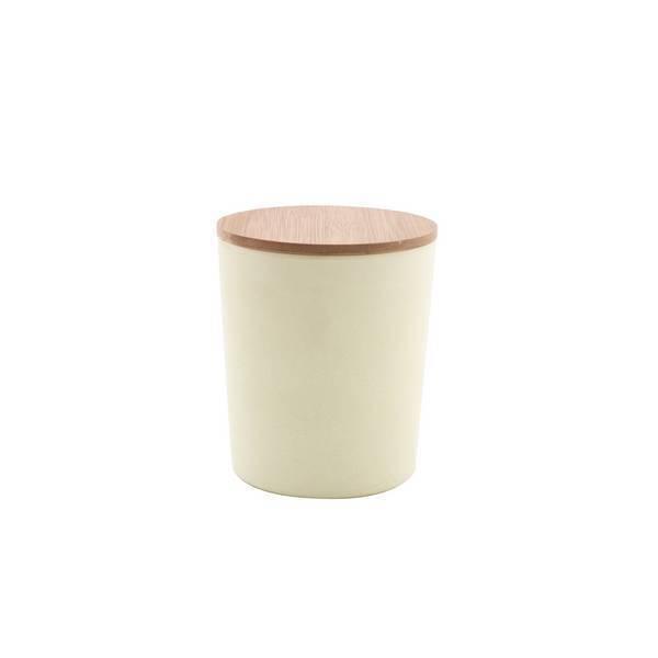 Point Virgule - Boîte fibre de bambou Blanc cassé grand format 14,2cm