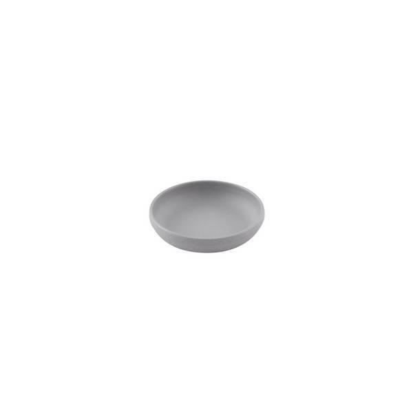 Point virgule - Petite assiette creuse fibre de bambou Gris ciment 9,2cm