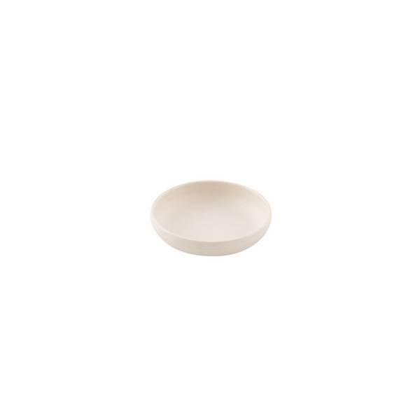 Point virgule - Petite assiette creuse fibre de bambou Blanc cassé 9,2cm