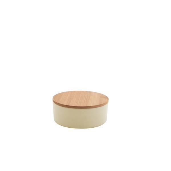 Point Virgule - Boîte fibre de bambou Blanc cassé petit format 5,2cm