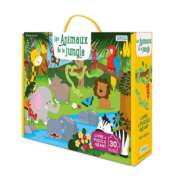 SASSI Junior - Livre et puzzle Les animaux de la jungle - Dès 3 ans