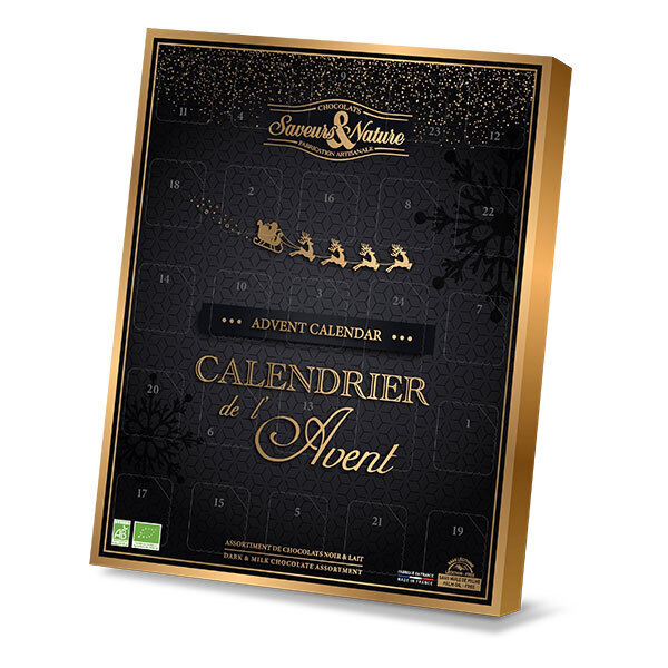Saveurs & Nature - Calendrier de l'Avent bio traditionnel 190g