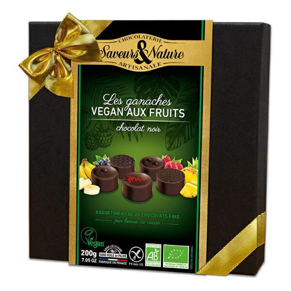 Saveurs & Nature - Coffret chocolat noir et fruits 200g