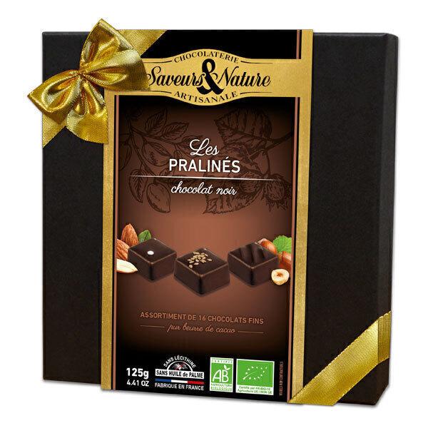 Saveurs & Nature - Coffret parlinés chocolat noir 125g