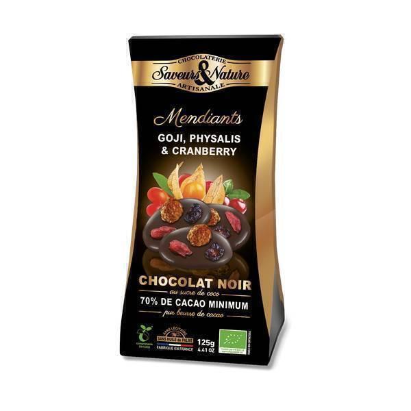 Saveurs & Nature - Mendiants chocolat noir sucre de coco et fruits 125g