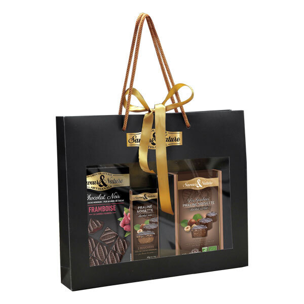 Saveurs & Nature - Sac cadeau assortiments chocolats 340g