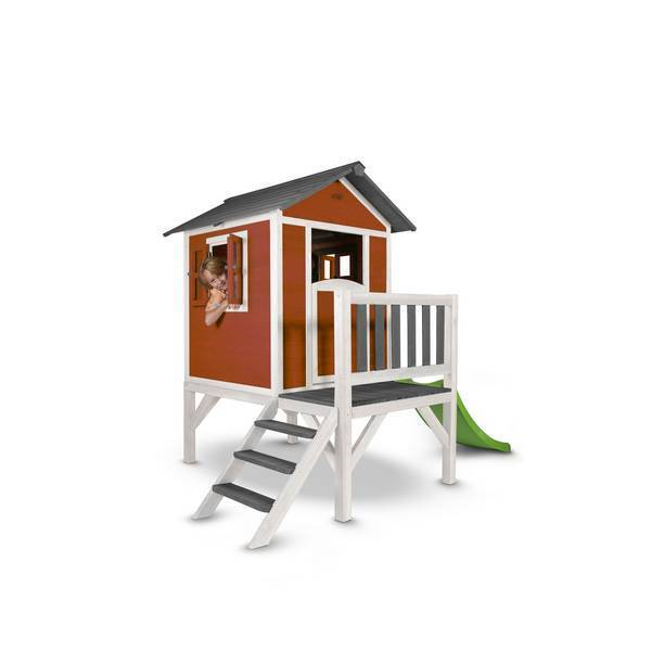 Sunny - Cabane Enfant Lodge XL Playhouse Scandicavian Rouge