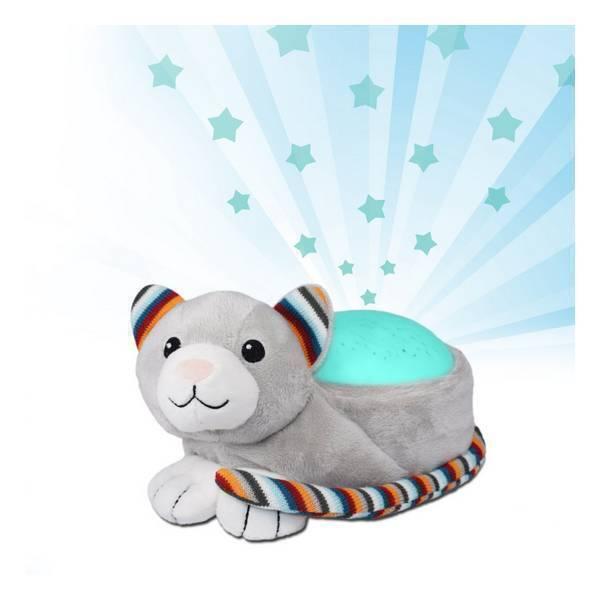 Zazu - Kiki le chat Peluche sonore projecteur étoiles
