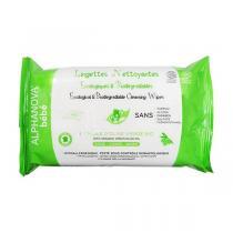 Alphanova - Sachet 60 lingettes nettoyantes Huile d'olive
