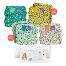 Bambino Mio - Miosolo pack 6 couches lavables Forêt tropicale - De 0 à 36 mo