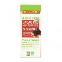 Ethiquable - Tablette chocolat  noir 70% cacao cru Cacahuètes Equateur 80g
