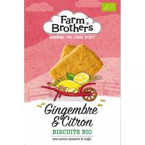Farm Brothers - Biscuits gingembre & citron 150g