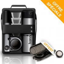 Handpresso - Pack Handpresso Pump Set argent et Etui porte-dose