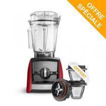 Vitamix - Pack Blender Ascent A2500i Rouge et Bols 225ml