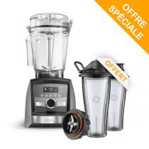 Vitamix - Pack Blender Ascent A3500i Nickel et Gobelets 600ml