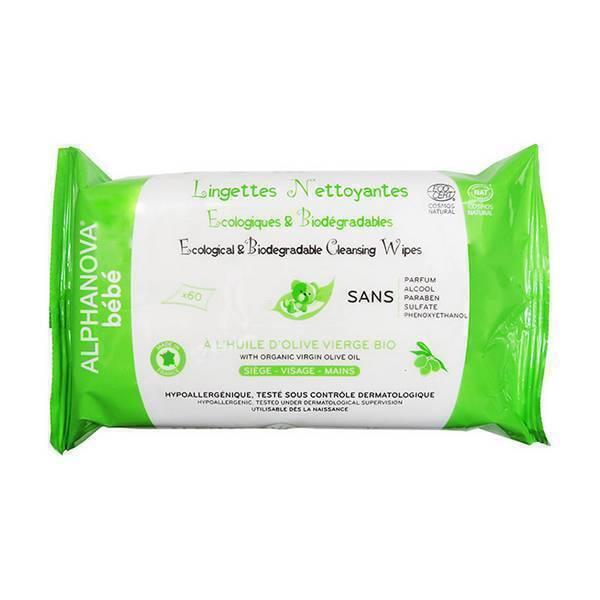Alphanova - Sachet 60 lingettes nettoyantes