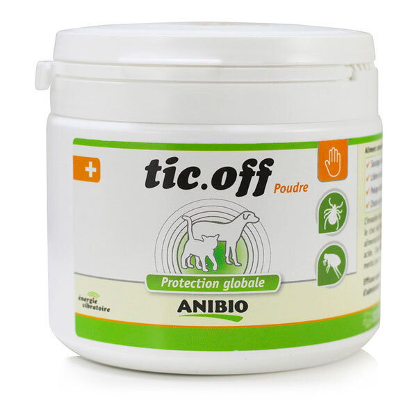 Anibio - Tic Off poudre protection tiques et puces 290g
