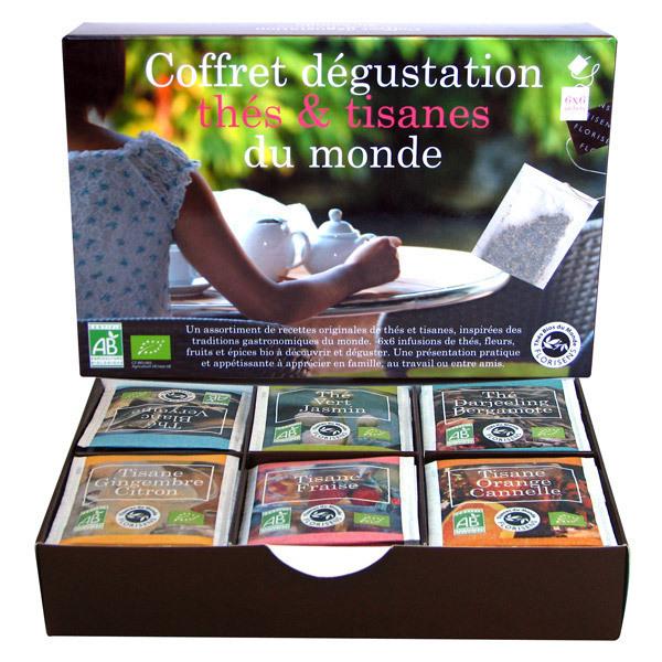Aromandise - Lot de 2 x Coffret Dégustation Thés & Tisanes Bio du Monde