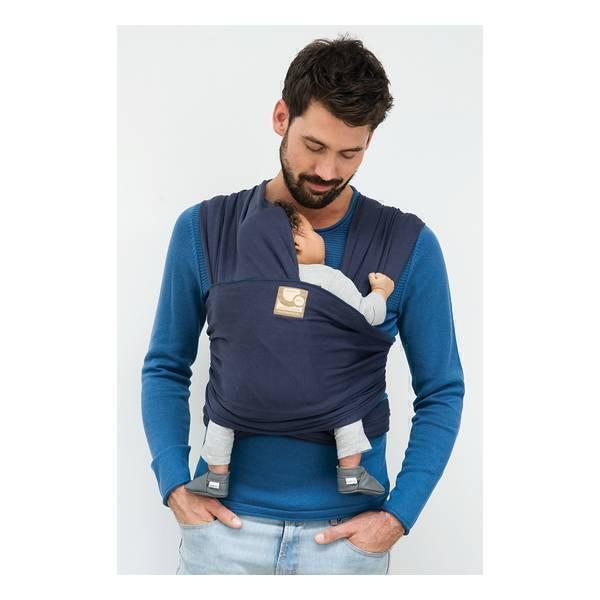Babylonia Carriers - Écharpe de portage extensible Tricot-Slen Bleu Denim. Loading  zoom 0d954789b34