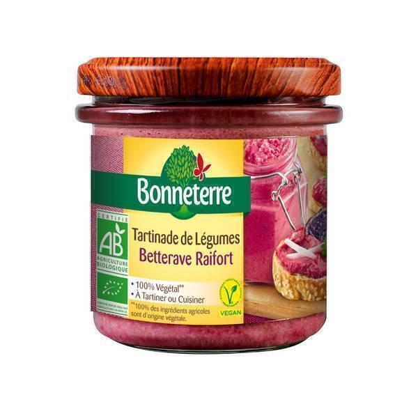 Bonneterre - Tartinade de légumes Betterave raifort 135g
