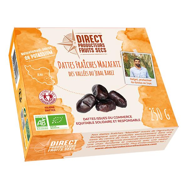 Direct producteurs Fruits secs - Dattes fraîches Mazafati Iran bio - 250 g