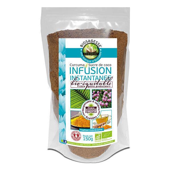 Ecoidées - Infusion instantanée sucre de coco Curcuma 150g