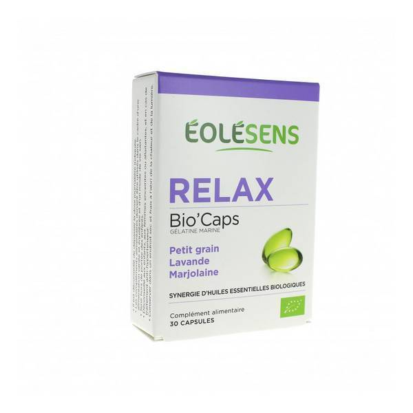 Eolesens - Relax Bio'Caps Synergie d'Huiles Essentielles x 30