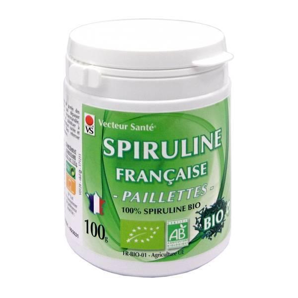 Vecteur Santé - Spiruline Française paillettes bio 100 G