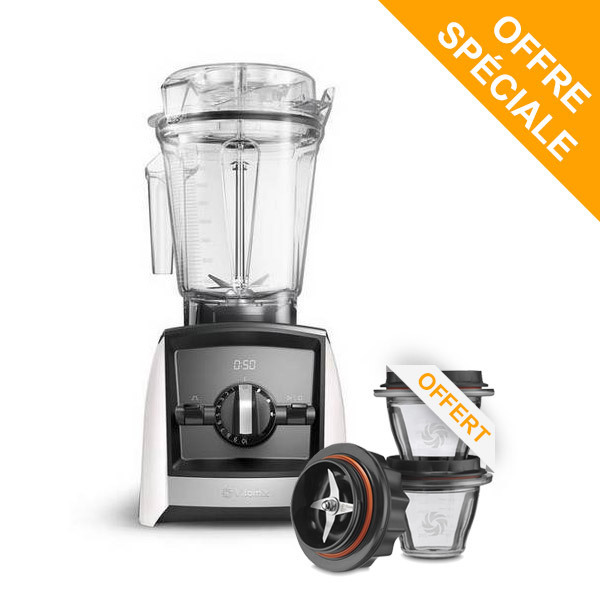 Vitamix - Pack Blender Ascent A2500i Blanc et Bols 225ml